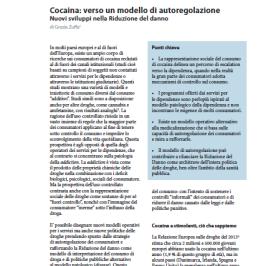 Cocaina: verso un modello di autoregolazione
